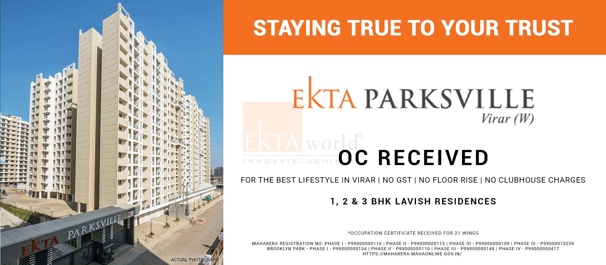 Property Developers In Mumbai - Ekta Parksville