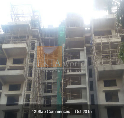 Ekta Panorama's 13 Slab Commenced - Oct 2015