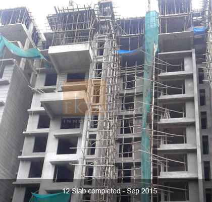 Ekta Panorama's 12 Slab Completed - Sep 2015