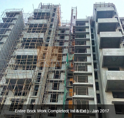 Entire Brick Work Completed(Int & Ext) on Jan 2017- Ekta Panorama