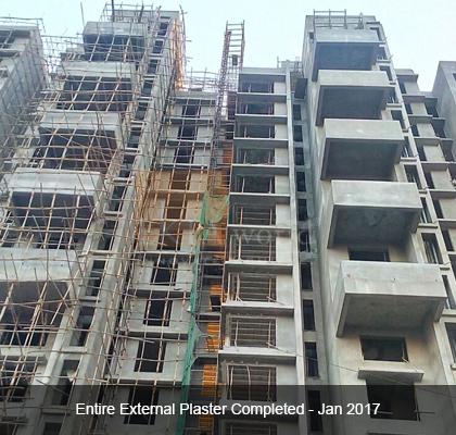 Entire External Plaster Completed on Jan 2017 - Ekta Panorama