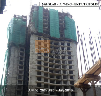 26th Slab - 'A' Wing - Ekta Tripolis