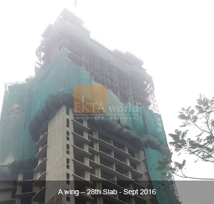 Ekta Tripolis 'A' Wing - 28th Slab - Sept 2016