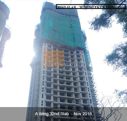 Ekta Tripolis 'A' Wing 32nd Slab - Nov 2016