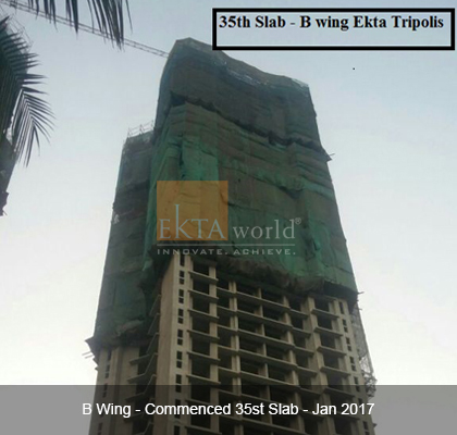 Ekta Tripolis 'B' Wing - Commenced 35th Slab - Jan2017