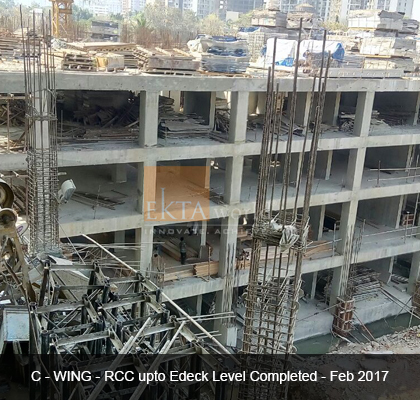 Ekta Tripolis 'C' Wing - RCC upto Edeck Level Completed - Feb 2017